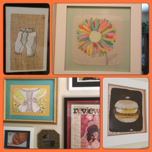 Martha Rich art on my walls (just a few examples).