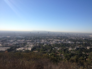 Catalina in the distance as seen from Runyon this morning.